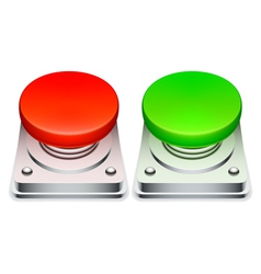 Red and green buttons vector