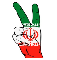 Peace sign of the iranian flag vector