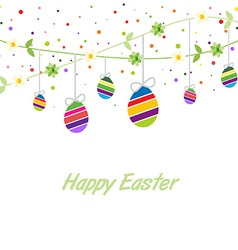 Easter spring card vector