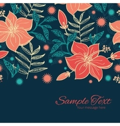 Vibrant tropical hibiscus flowers vector