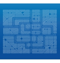 Blueprint plan vector