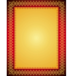 Golden certificate background vector