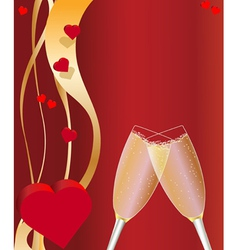 Valentines day card red vector