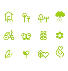 Agriculture farming icons vector