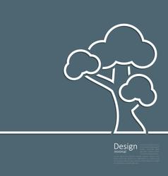 Tree standing alone symbol design webpage logo vector