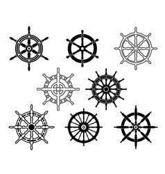 Steering wheels set for heraldry design vector