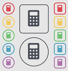 Calculator bookkeeping icon sign symbol on the vector