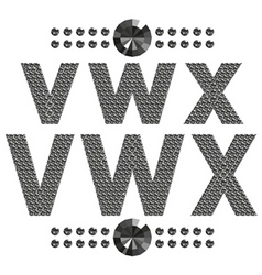 Diamond letters and numbers big and small vector