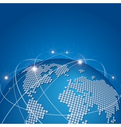 Global technology mesh network vector