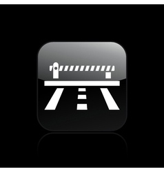 Road barrier icon vector