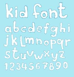 Doodle kid abc typeset vector