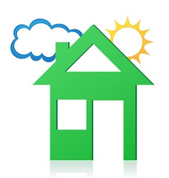 House sun and cloud concept 02 vector