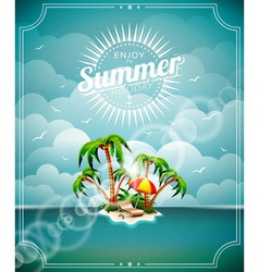 On a summer holiday theme vector