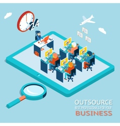 Outsource best professionals for your business vector