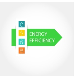Energy efficiency logo vector