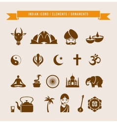 India - collection of icons and elements vector