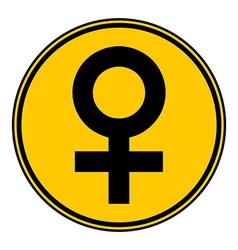 Gender female symbol button vector