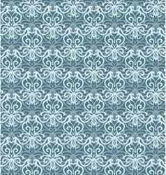 Intricate silver and blue luxury seamless pattern vector