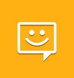 Happy chat icon vector