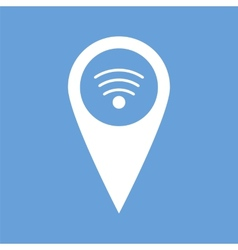 Wi-fi pointer white icon vector