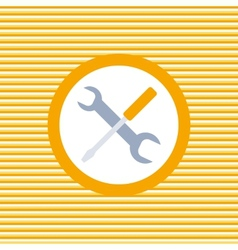 Auto service color flat icon vector