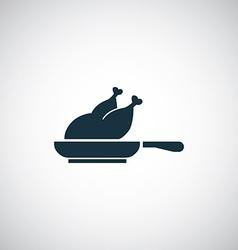 Chicken grill icon vector