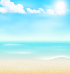 Beach seaside sea shore clouds summer vacation vector