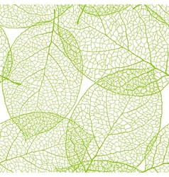 Fresh green leaves background - vector