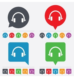 Headphones sign icon earphones button vector