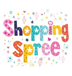 Shopping spree vector