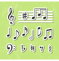 Music notes icons vector