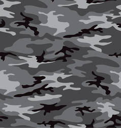 Camouflage grey seamless pattern vector