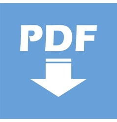 Pdf white icon vector
