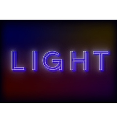 Neon light light neon sign vector