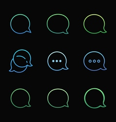 Contour talk bubble comment and message logo icons vector