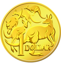 Australian one dollar coin vector