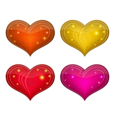 Valentine heart set vector