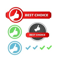 Best choice set of icons vector