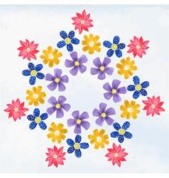 Vignette wild flowers vector