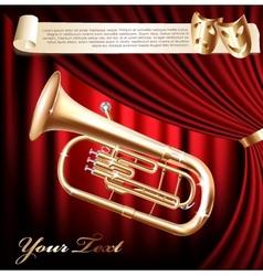 Classical baritone tuba horn vector