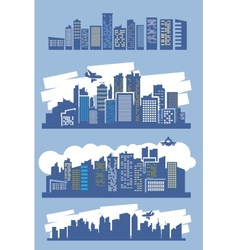 Blue city vector