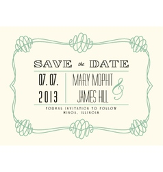 Classic save the date vector