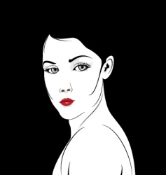 Glamour girl portrait vector