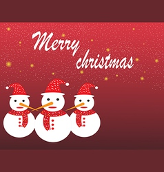 Christmas landscape and snow man design vector