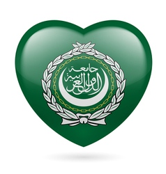 Heart icon of arab league vector