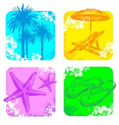 Hand drawn resort objects vector