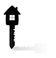 Key with house on it vector