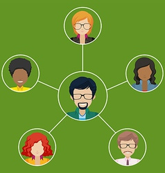 Network of businessminded people vector
