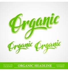 Title organic handmade lettering vector