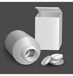 Tablets and tube vector